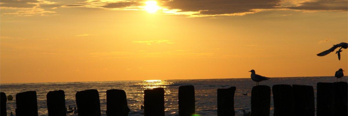 Ustka zachód slońca